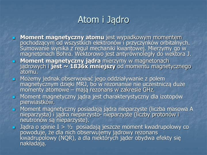Atom i Jądro