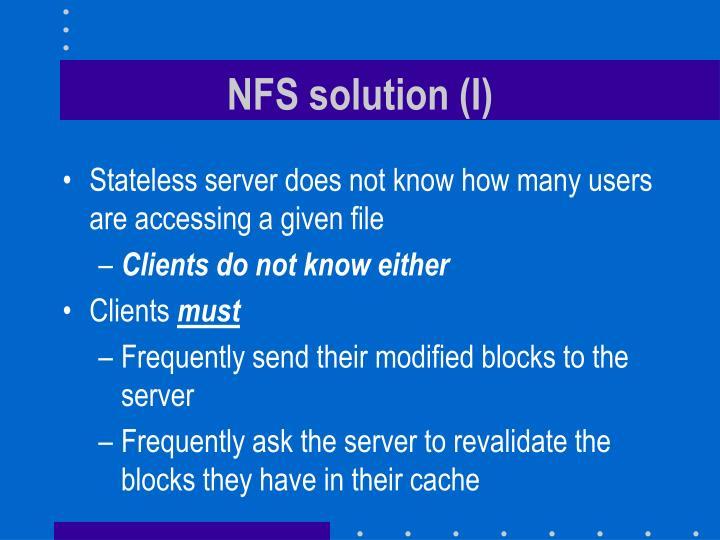 NFS solution (I)
