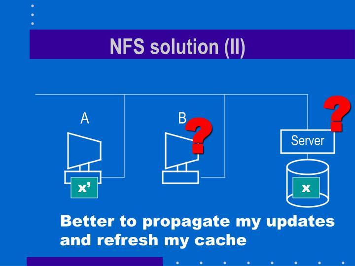 NFS solution (II)