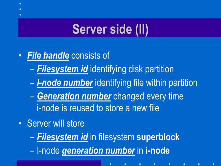 Server side (II)