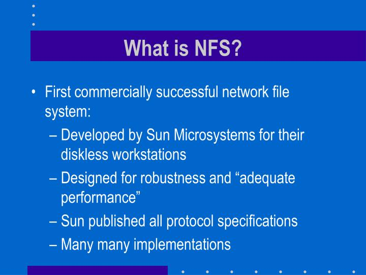 What is nfs