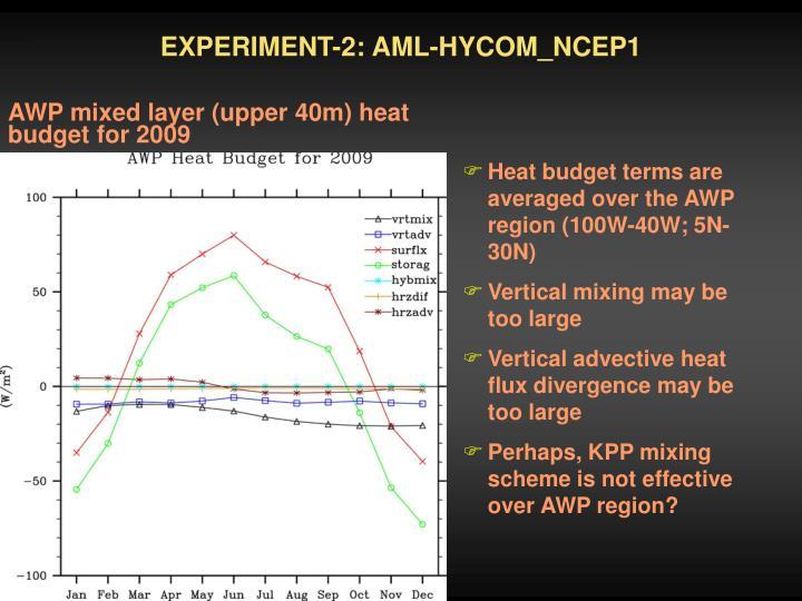 EXPERIMENT-2: AML-HYCOM_NCEP1