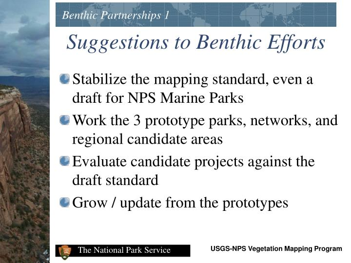 Benthic Partnerships 1
