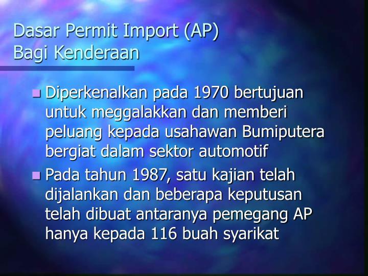 Dasar Permit Import (AP)