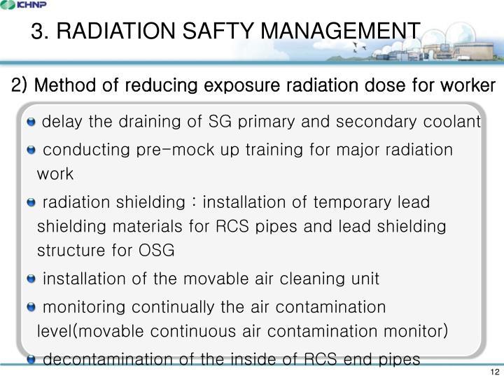 3. RADIATION SAFTY MANAGEMENT