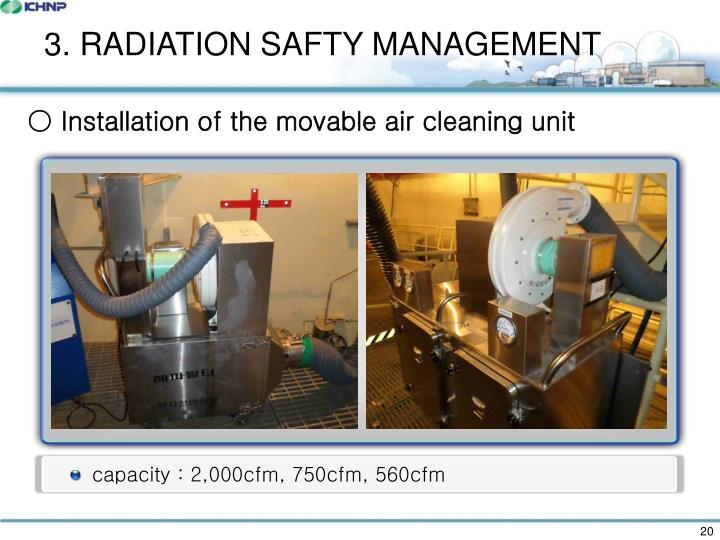 3. RADIATION SAFTY MANAGEMENT