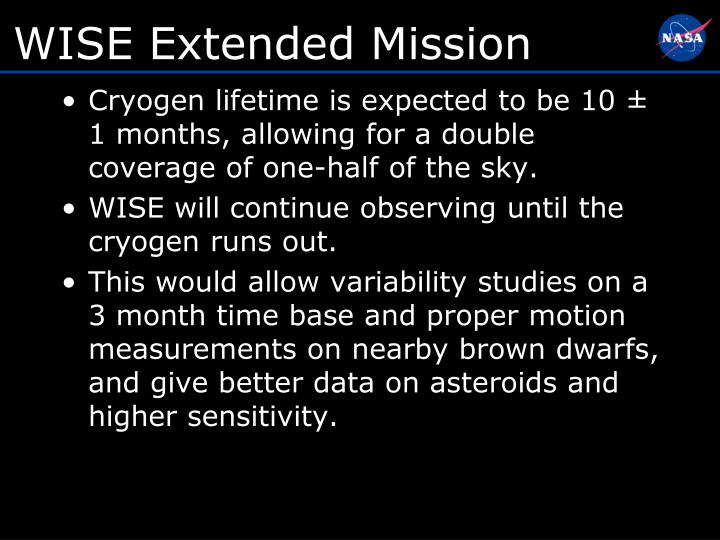 WISE Extended Mission