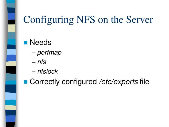 Configuring NFS on the Server