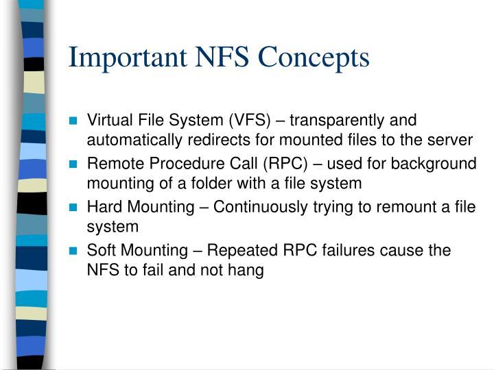 Important NFS Concepts