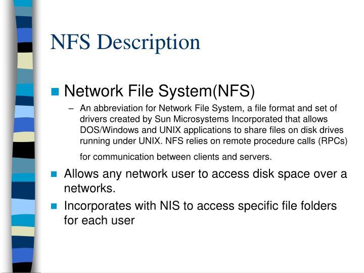NFS Description
