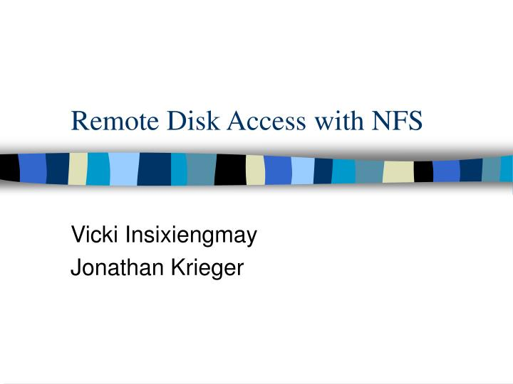 Remote disk access with nfs