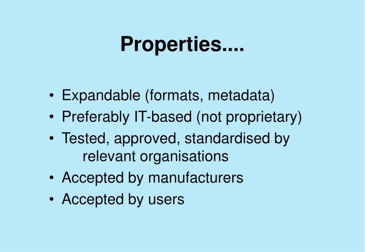 Properties....