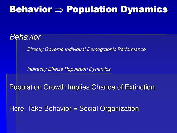Behavior population dynamics