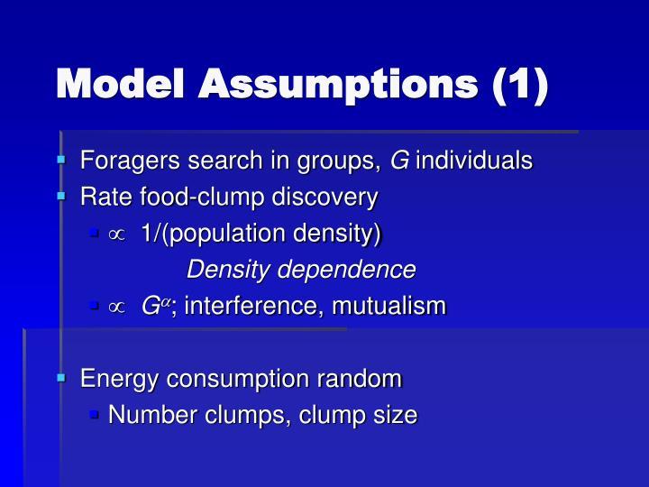 Model Assumptions (1)
