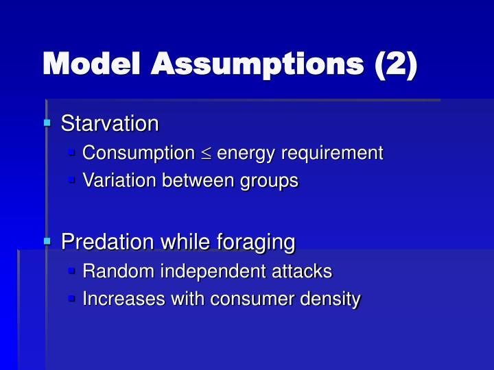 Model Assumptions (2)