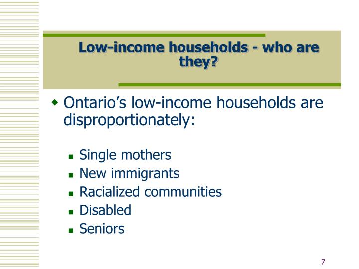Low-income households - who are they?
