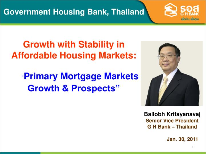 Government Housing Bank, Thailand