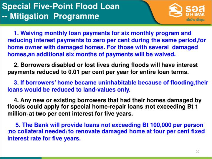 Special Five-Point Flood Loan