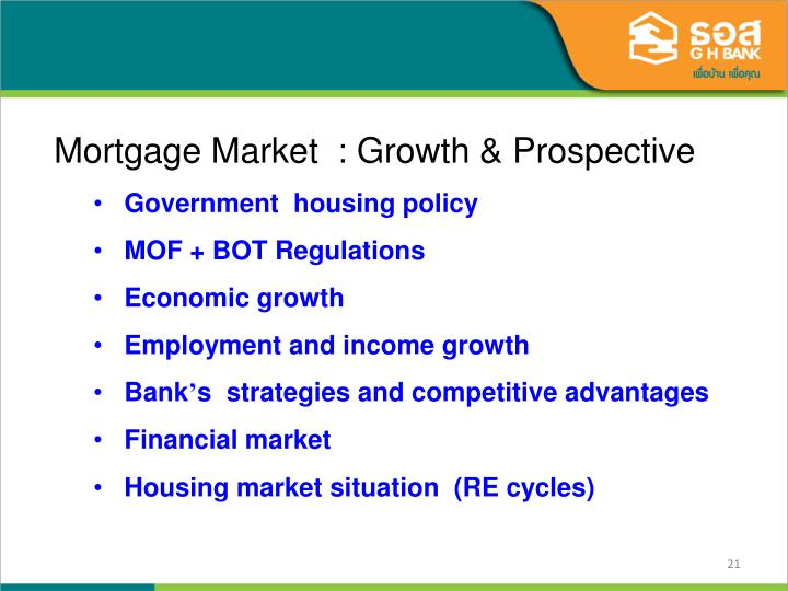 Mortgage Market  : Growth & Prospective