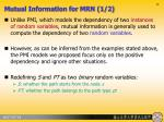 mutual information for mrn 1 2