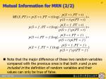 mutual information for mrn 2 2