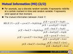 mutual information mi 2 2