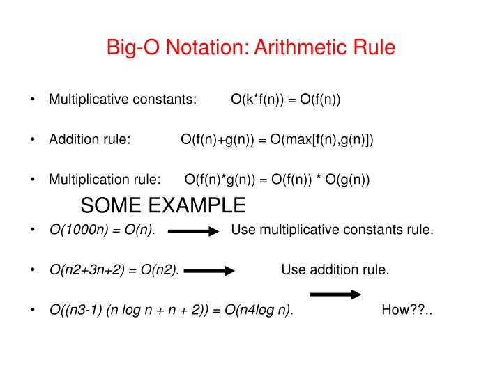 Big-O Notation: Arithmetic Rule