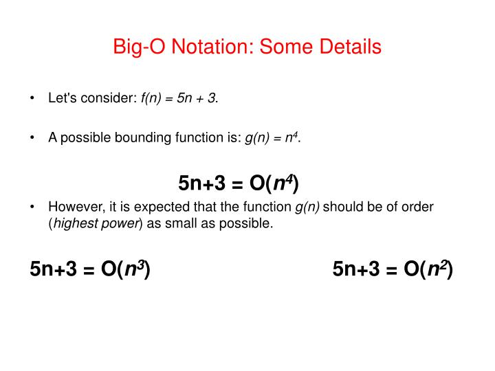 Big-O Notation: Some Details