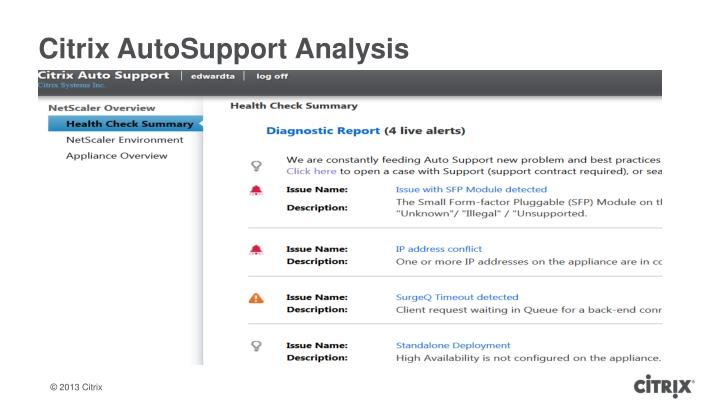 Citrix AutoSupport Analysis