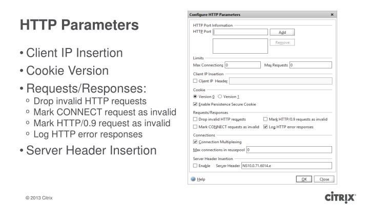 HTTP Parameters