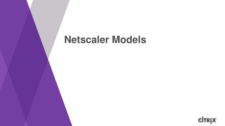Netscaler Models
