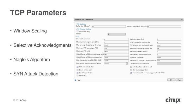 TCP Parameters