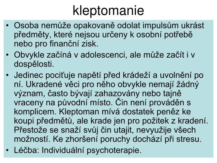 kleptomanie