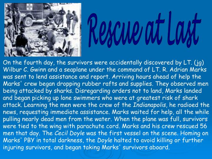 Rescue at Last