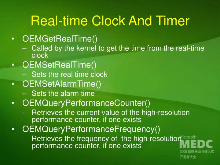 Real-time Clock And Timer
