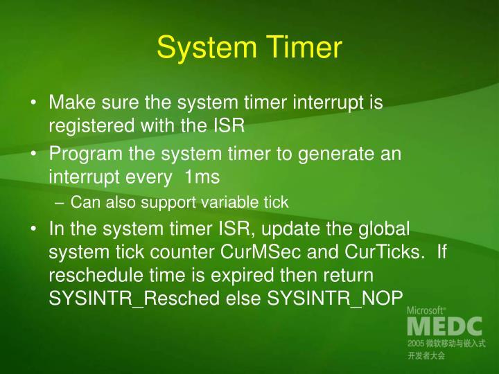 System Timer