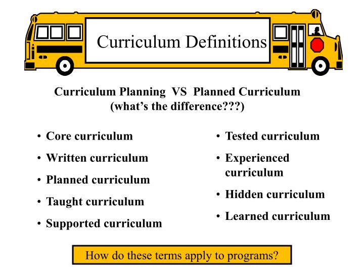 Curriculum Definitions
