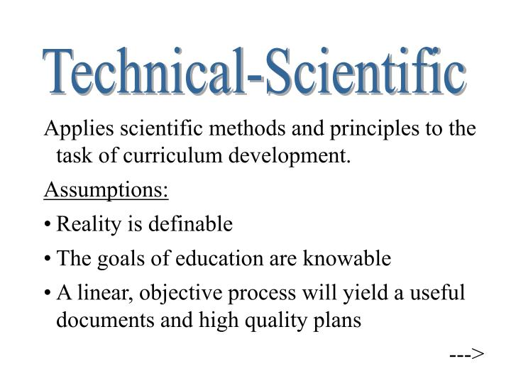 Technical-Scientific