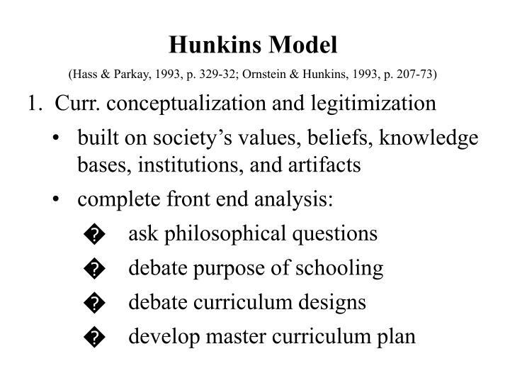 Hunkins Model