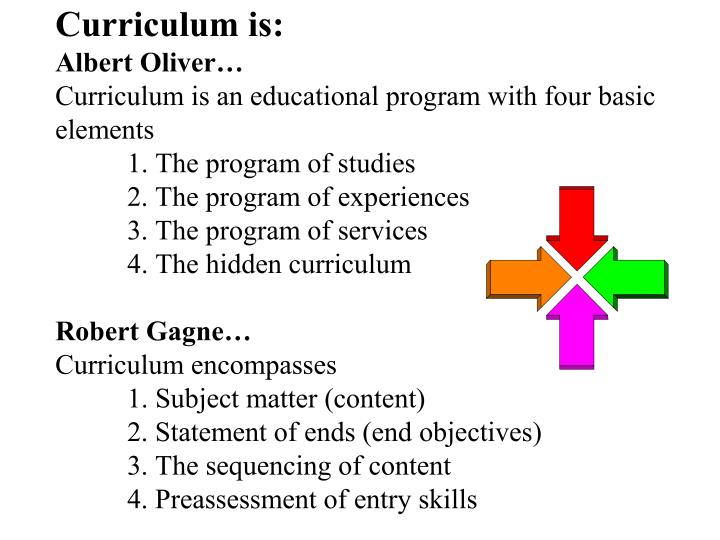 Curriculum is: