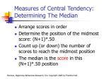 measures of central tendency determining the median