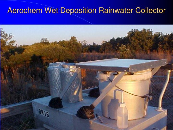Aerochem Wet Deposition Rainwater Collector