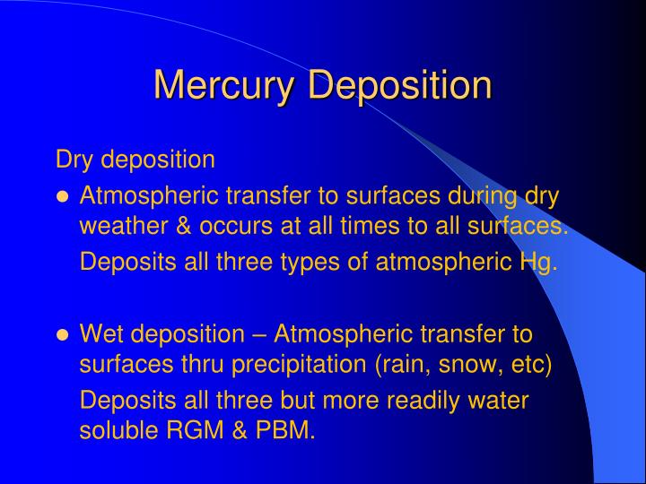 Mercury Deposition