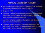 mercury deposition network