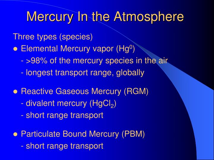 Mercury In the Atmosphere