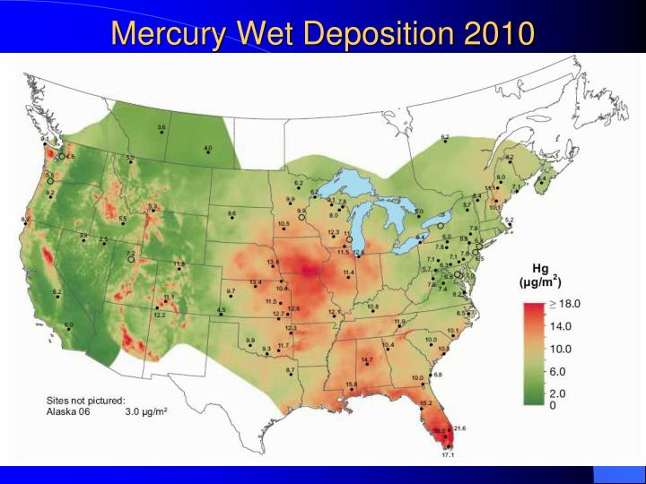 Mercury Wet Deposition 2010