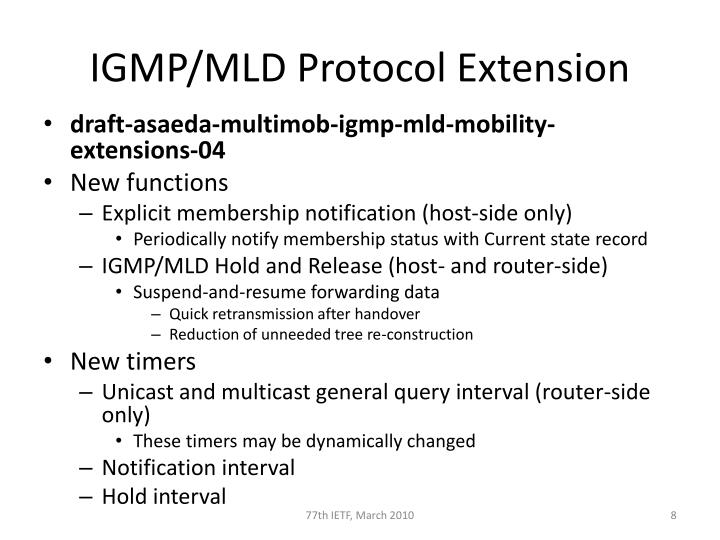 IGMP/MLD Protocol Extension