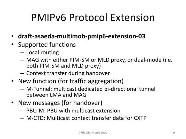 PMIPv6 Protocol Extension