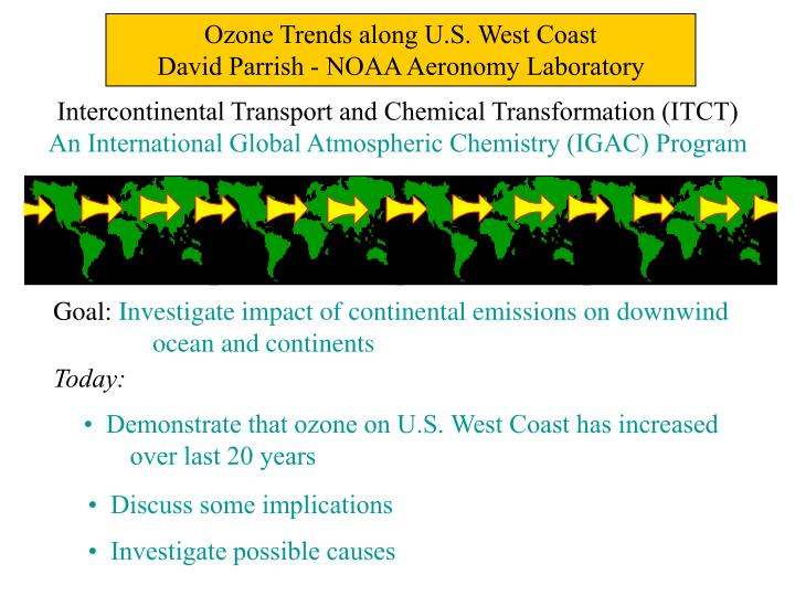 Ozone Trends along U.S. West Coast