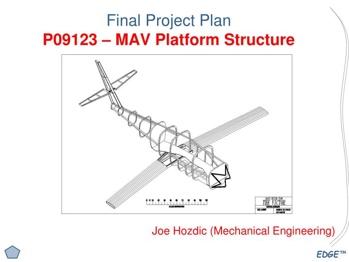 Final project plan p09123 mav platform structure